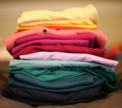 small batch of clothes for drying